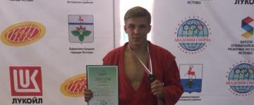 Студент МПГУ занял третье место на Чемпионате России по самбо