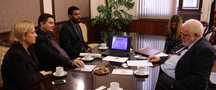 Встреча ректора МПГУ с руководителями национальной бразильской ассоциации международных научных молодежных обменов REDE POC
