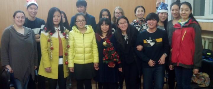 Празднование нового года с иностранными стажерами