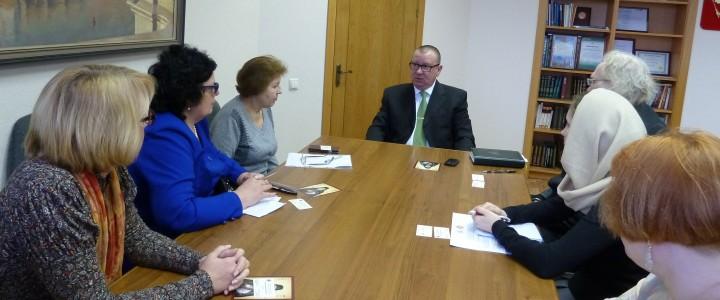 Встреча с представителями Московской духовной академии