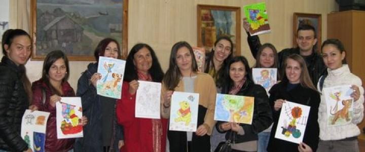 Творческое занятие со студентами Великотырновского университета из Болгарии