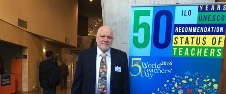 Делегация МПГУ на праздновании Всемирного дня учителя в штаб-квартире ЮНЕСКО
