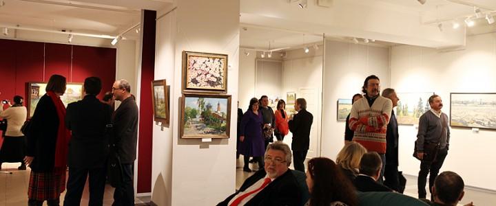 На открытии выставки «Планета Русь» в музее-заповеднике