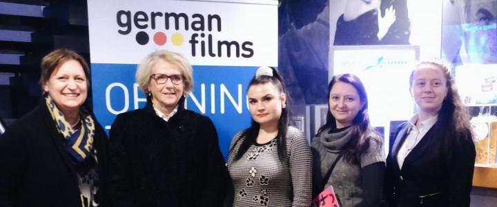 Кафедра немецкого языка института иностранных языков МПГУ на открытии 15-го фестиваля немецкого кино в Москве.
