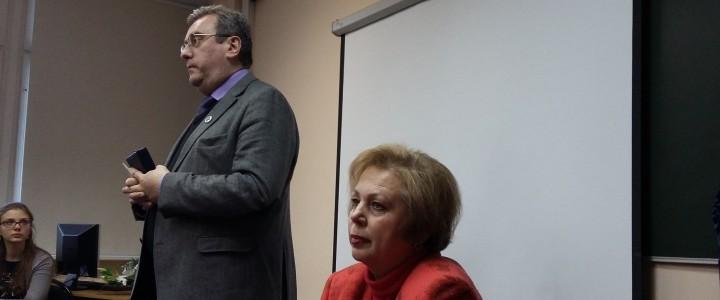 Встреча с ректором А.В. Лубковым на факультете начального образования