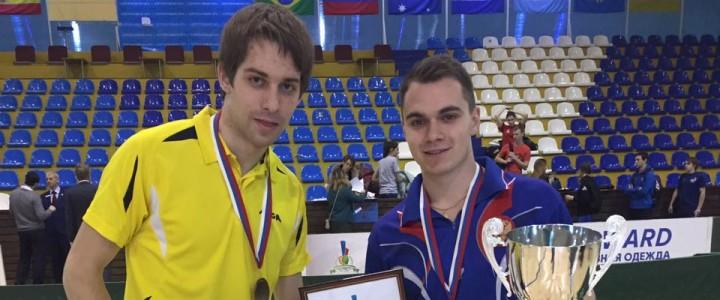 Студенты МПГУ стали победителями Открытого кубка Государственной Думы по настольному теннису