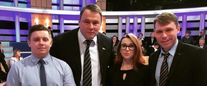 Впервые на Первом.  Политклуб МПГУ принимает участие в  телепередаче «Время покажет»