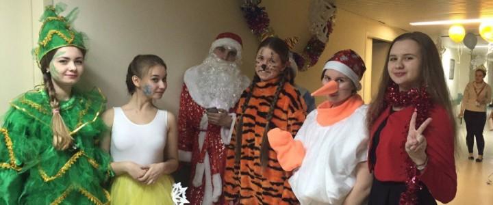 Yo-вожатые провели новогоднее представление в НИИ нейрохирургии им. Н.Н. Бурденко