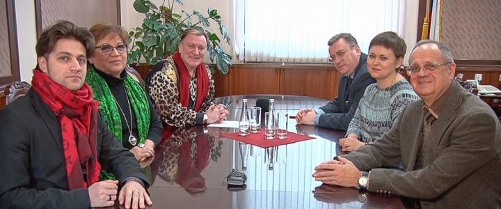 Встреча ректора МПГУ А.В. Лубкова с певцом Сергеем Пенкиным