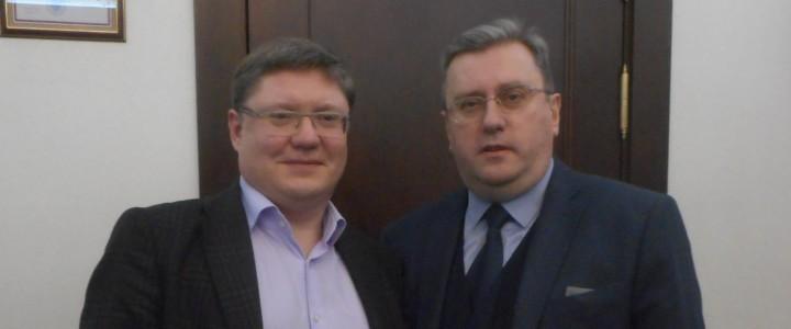Встреча ректора МПГУ А.В. Лубкова с депутатом Госдумы А.К. Исаевым