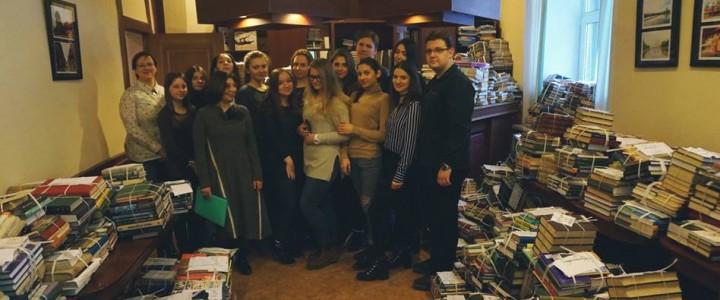 «День с книгой» – живая акция Института журналистики, коммуникаций и медиаобразования и библиотеки им. А.П. Чехова