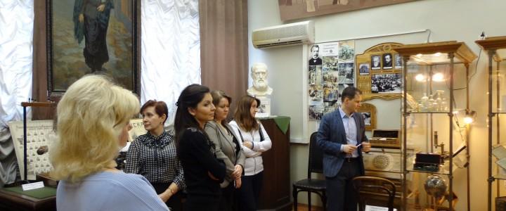 Слушатели курсов профессиональной переподготовки «Менеджмент в образовании» в музее МПГУ