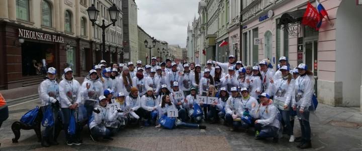 Волонтерский центр МПГУ прошел с «Бессмертным полком»