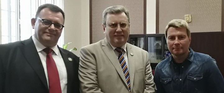Встреча ректора МПГУ А.В. Лубкова с народным артистом России Николаем Басковым