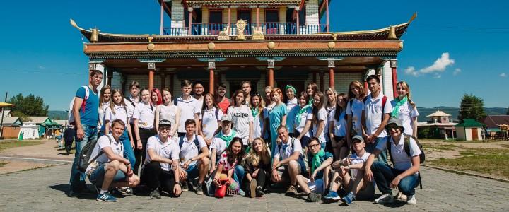 Участники «Школы молодого патриота» на Байкале посетили Иволгинский Дацан