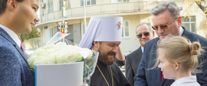 Митрополит Волоколамский Иларион посетил МПГУ в рамках праздничных мероприятий, посвященных 145-летию вуза