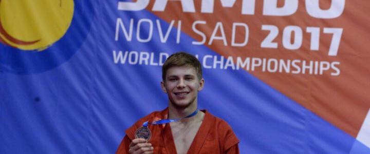 Студент Института физической культуры, спорта и здоровья Александр Сучков – призер Первенства мира по самбо