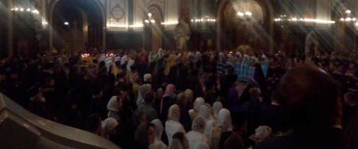 Руководство МПГУ посетило Патриаршее служение в Храме Христа Спасителя в Москве