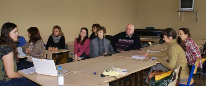 25 октября состоялась встреча преподавателей кафедры немецкого языка с аспиранткой  Эрфуртского университета (Германия) г-жой Р. Петер-Сабо.