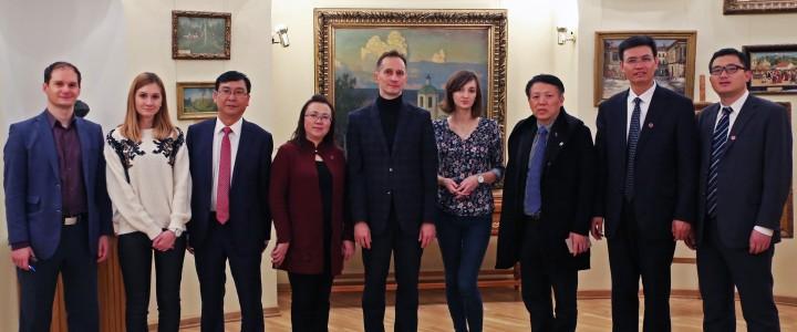 14 ноября 2017 г. Встреча с  делегацией Гуйчжоуского университета инженерных наук (Китай)