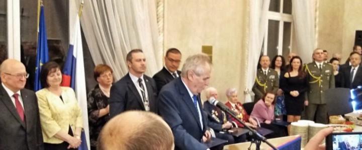 Профессор кафедры контрастивной лингвистики  д.ф.н. Андрей Иванович Изотов на приёме в Посольстве Чехии
