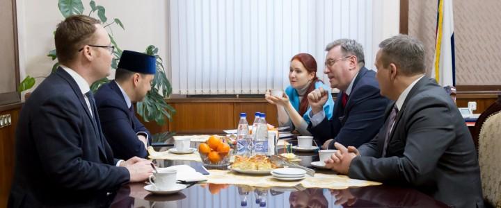 Ректор А.В. Лубков встретился с первым заместителем Председателя Совета муфтиев России Р.Р. Аббясовым
