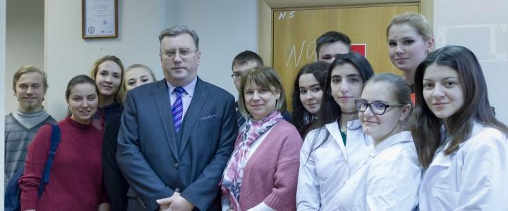 Ректор МПГУ А.В.Лубков посетил Институт биологии и химии