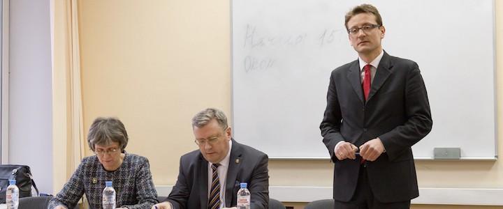 Ректор посетил заседание Ученого совета Математического факультета