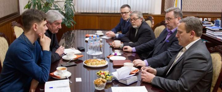 Ректор встретился с представителями Государственного центрального музея современной истории России