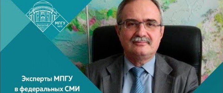 Директор Института иностранных языков С.А.Засорин на 1-м канале в программе «Время покажет. Статус Каспия»