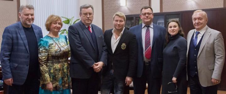 Ректор встретился с народным артистом, профессором кафедры музыкально-исполнительского искусства Н.В. Басковым