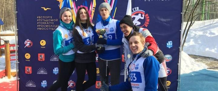 Студенты МПГУ – участники весеннего этапа гонки ГТО в парке Сокольники