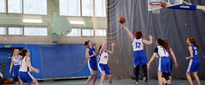 Победа женской баскетбольной сборной МПГУ над командой РХТУ им Д.И. Менделеева
