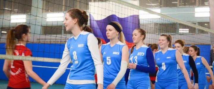 Женская волейбольная сборная МПГУ обыграла команду РГУНГ
