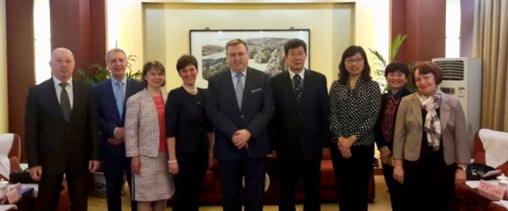 Завершился очередной этап визита официальной делегации МПГУ, возглавляемой ректором А.В. Лубковым, в город Сиань (КНР)