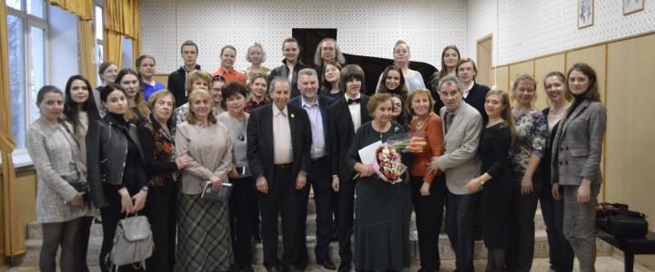 На факультете музыкального искусства МПГУ прошла встреча с композитором Сергеем Слонимским