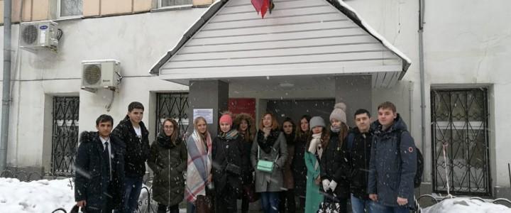 """Студенты 1 курса ИСГО, обучающиеся по направлению """"Юриспруденция"""", посетили Гагаринский суд города Москвы и аппарат уполномоченного по правам человека"""