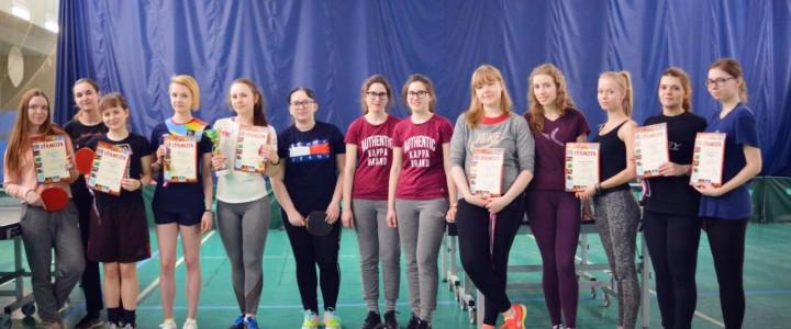 Команда факультета дошкольной педагогики и психологии заняла 3 место в Первенстве МПГУ по настольному теннису!