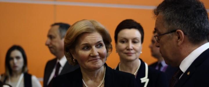 Ольга Голодец посетила стенд МПГУ на ММСО-2018