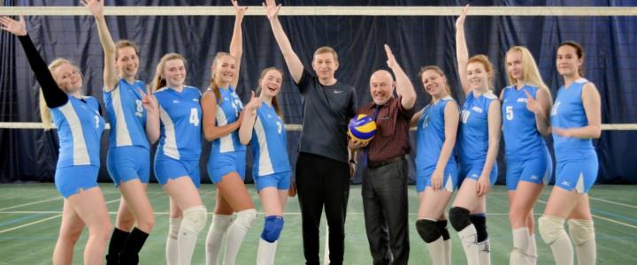 Поздравляем женскую сборную команду МПГУ по волейболу с победой в финале чемпионата Высшей волейбольной лиги