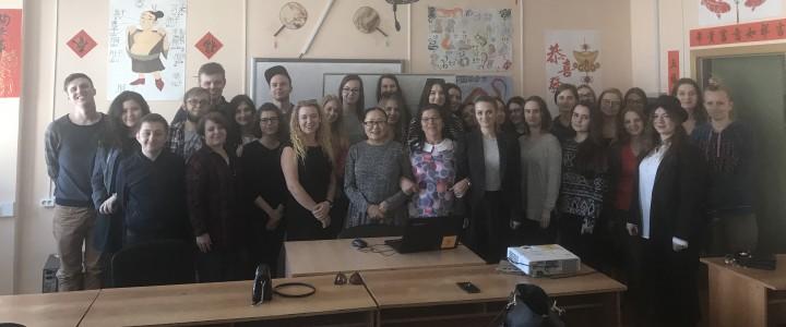 Встреча студентов ИИЯ МПГУ со студентами Щецинского университета