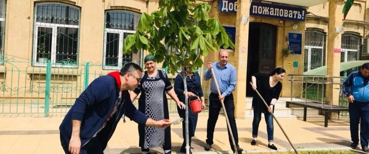 В  Дербентском  филиале МПГУ  прошел общеуниверситетский  субботник