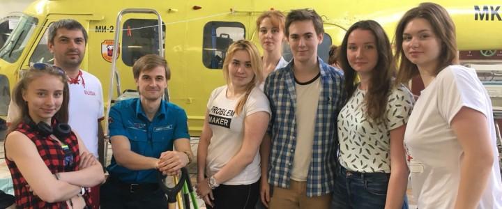 Студенты географического факультета на съемках передач для телеканала «Доктор»