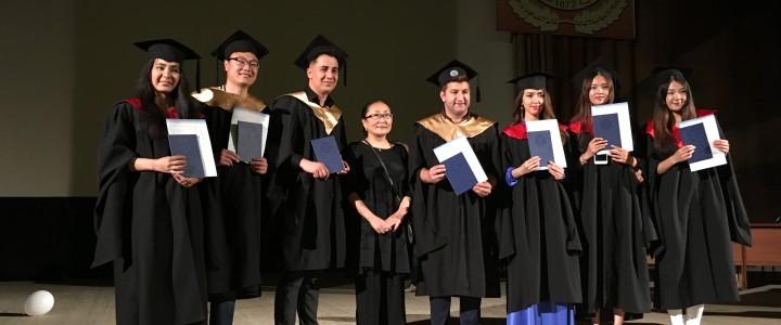 Церемония вручения дипломов выпускникам кафедры контрастивной лингвистики Института иностранных языков