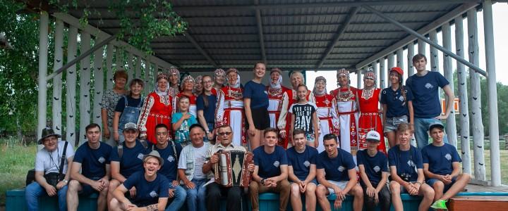 Жители деревни Нижняя Улу-Елга знакомят студентов МПГУ с традициями чувашского народа