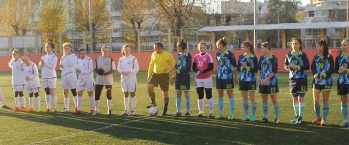 Женская сборная МПГУ по футболу обыграла сборную МГСУ со счетом 8:0