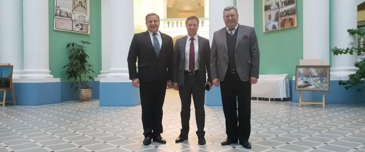 Ректор МПГУ провел встречу с представителемРоссотрудничества