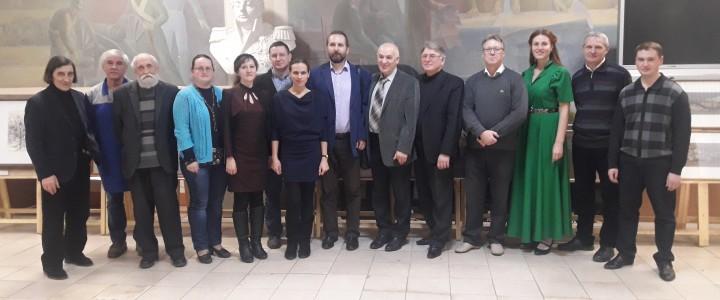Открытие художественной выставки творческих работ преподавателей, посвященной 65-летию кафедры рисунка