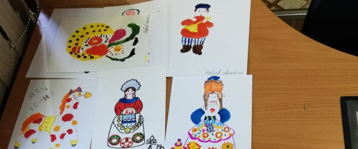 Студенты и магистранты МПГУ учат школьников русской народной росписи