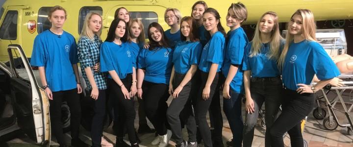Студенты Филологического факультета приняли участие в съемках серии передач, посвященных оказанию первой помощи